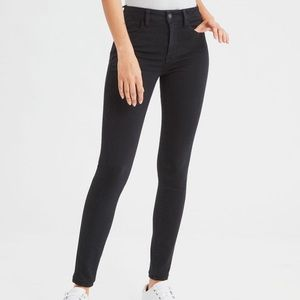 AE Ne(X)t Level Stretch High Waisted Black Jegging